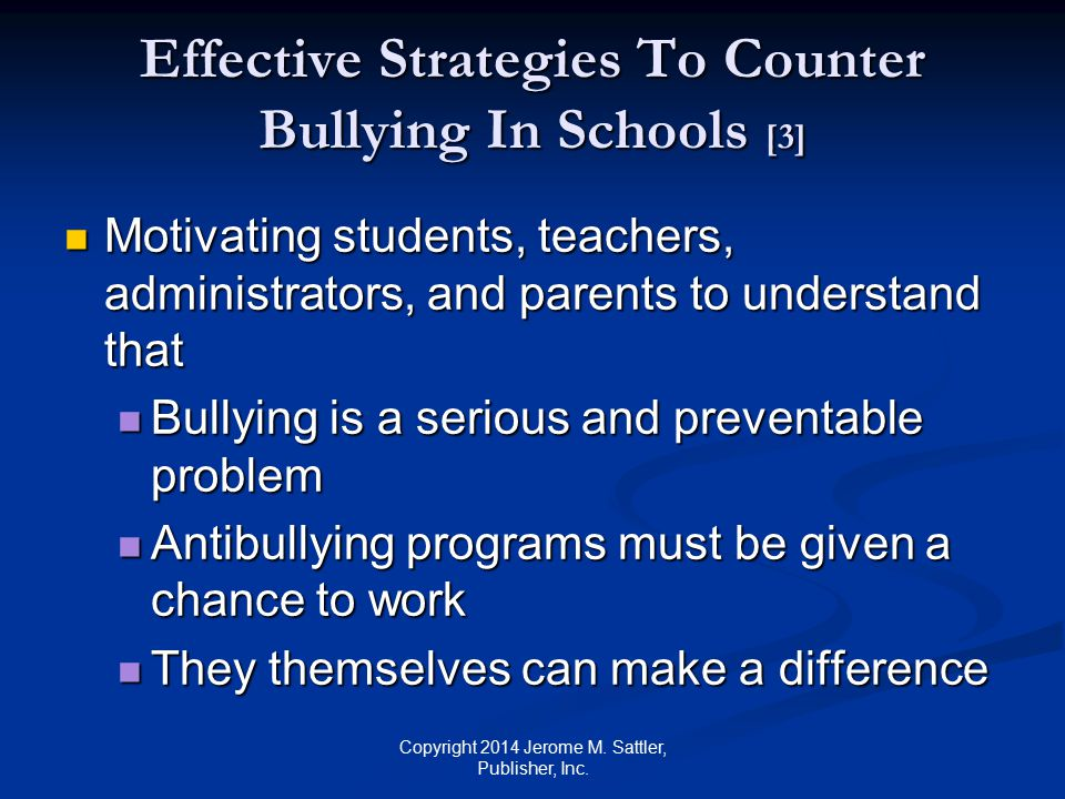 Effective Strategies To Counter Bullying In Schools [3]